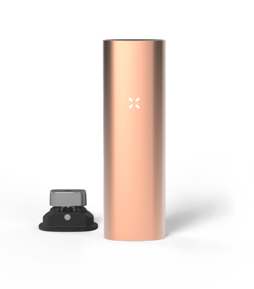 Rose Gold coloured PAX 3 dry herb vape kit weed pen