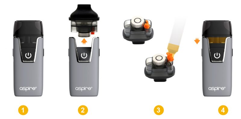 How to refill aspire nautilus pod vape kit