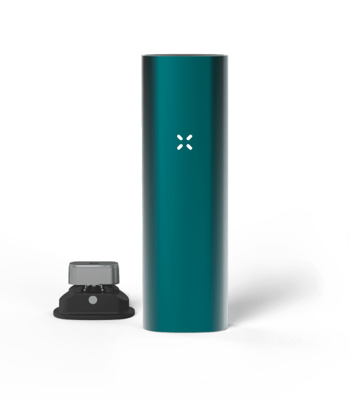 Teal coloured PAX 3 dry herb vape kit weed pen