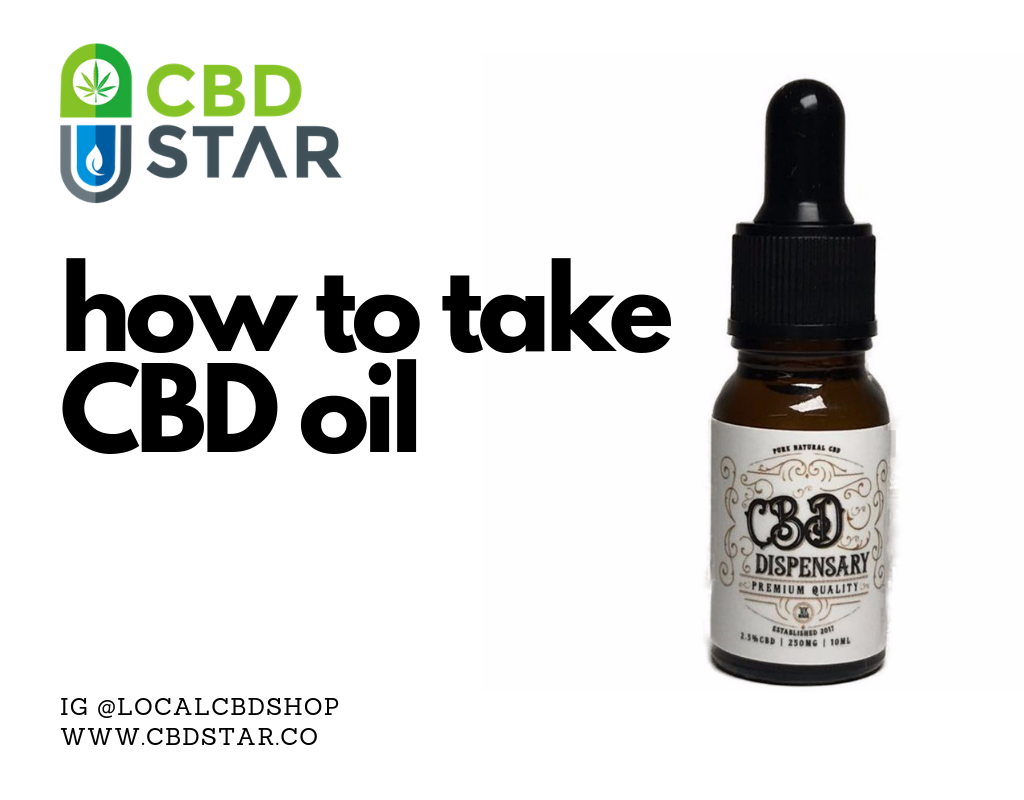 how to take cbd oil blog post