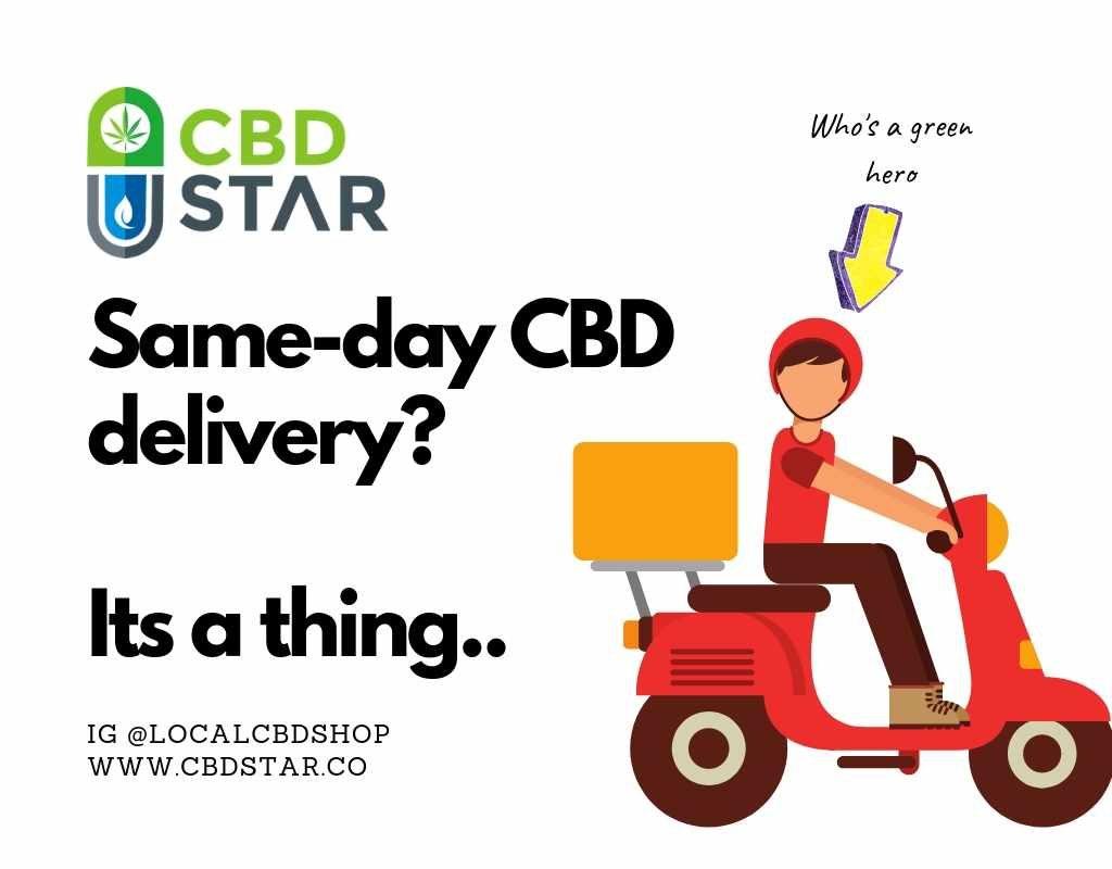 Sameday CBD delivery London