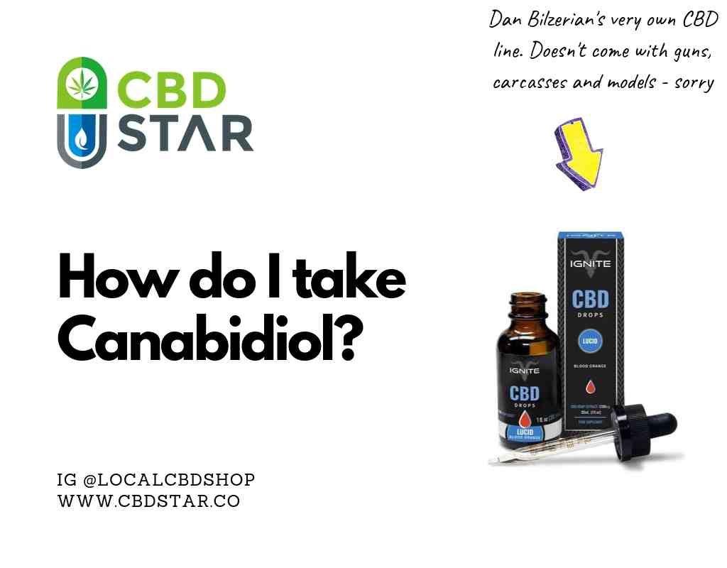 how do i take canabidiol