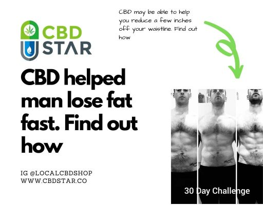 CBD helps man lose fat fast in one month